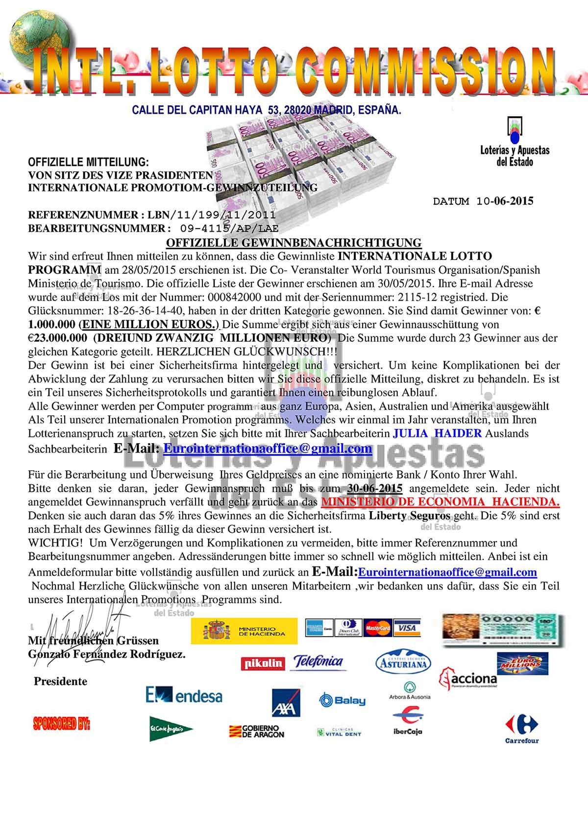 INTERNATIALE LOTTO PROGRAMMS