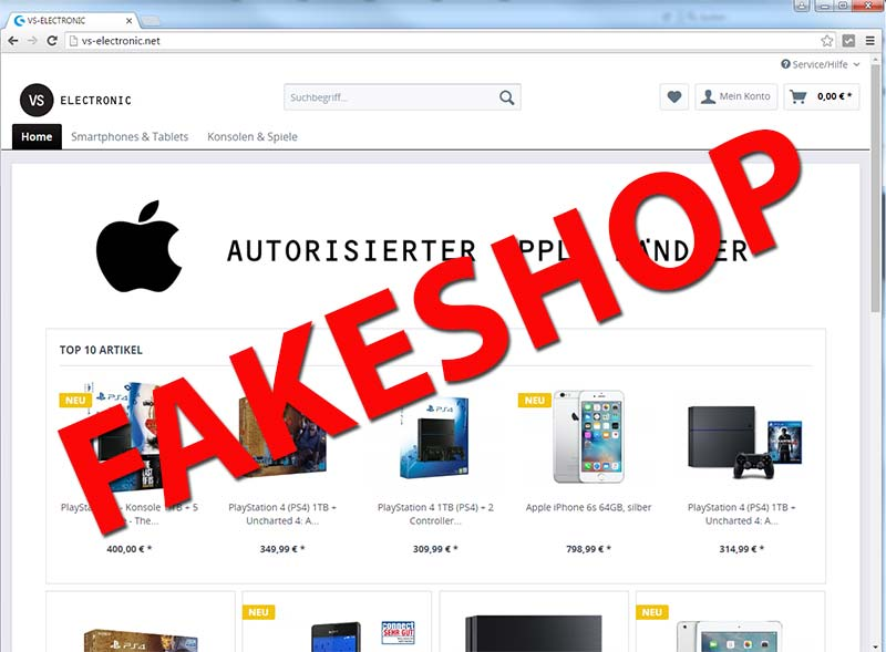 VS-Electronic-net-Fakeshop