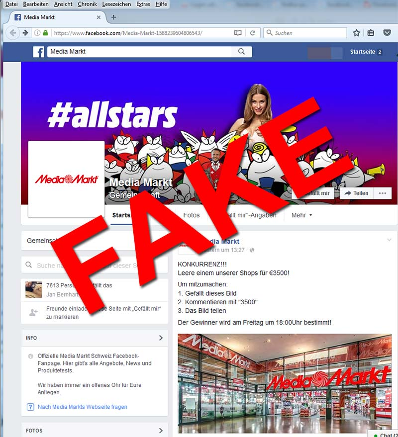 Media-Markt-Fake-Fanpage-Facebook