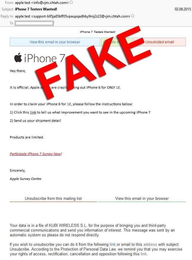 iphone-tester-werden-fake-emails